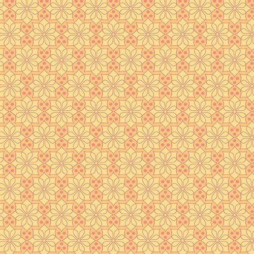 The Color Collection - Geometric Flower in Orange by Modern Quilt Studio for Andover