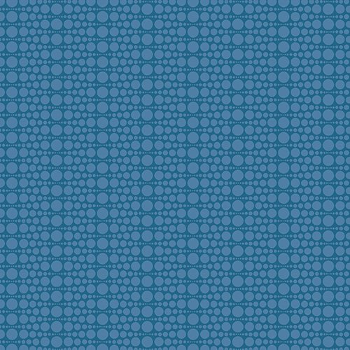 The Color Collection - Stacked Dot in Blue by Modern Quilt Studio