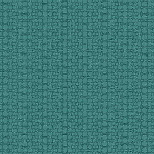The Color Collection - Stacked Dot in Teal by Modern Quilt Studio for Andover