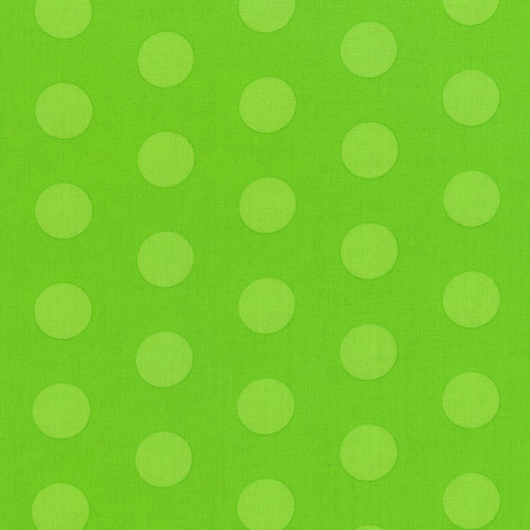 Happy Owl O Ween - Big Ol Dots in Green by Sue Marsh for RJR Fabrics