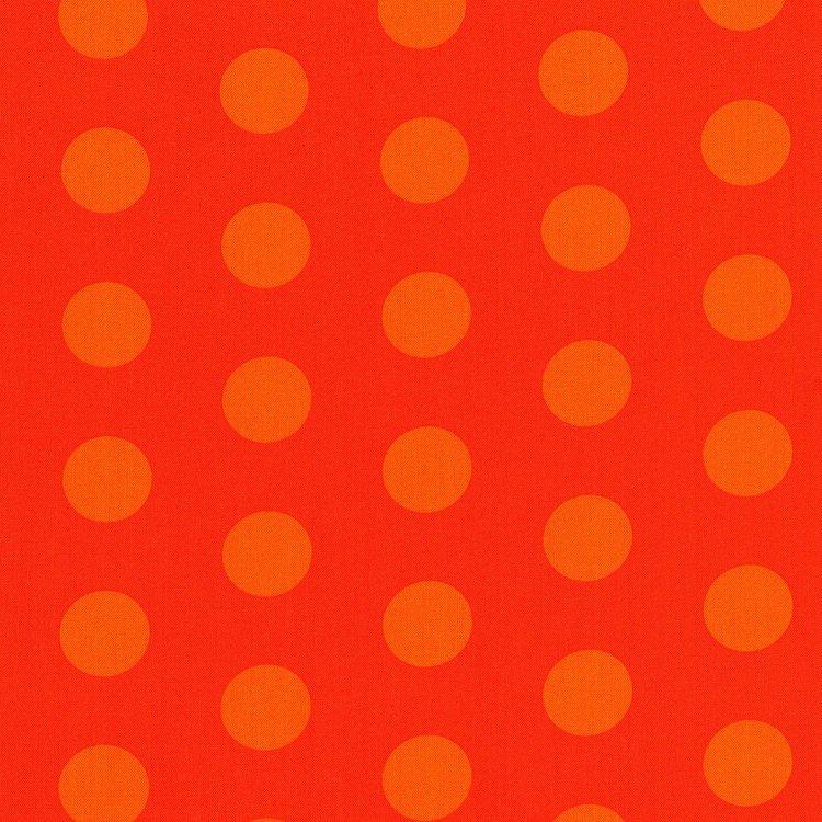 Happy Owl O Ween - Big Ol Dots in Orange by Sue Marsh for RJR Fabrics