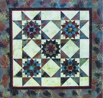 Pattern - Little Bits: Double Star Duo (32 x 32) by Cindy Edgerton from A Very Special Collection