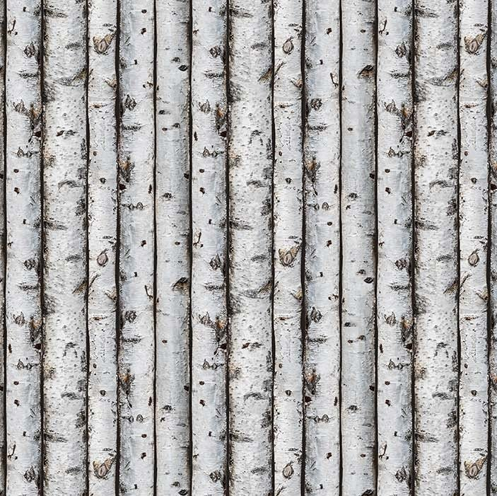 Naturescapes 2020 - Birch Trees in Gray by Deborah Edwards for Northcott