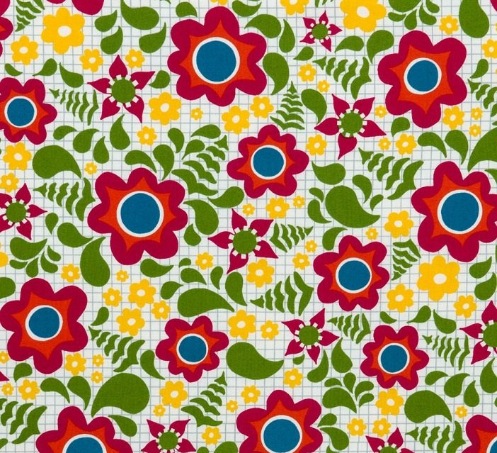 Best. Day. Ever! - Floral Grid by April Rosenthal for Moda