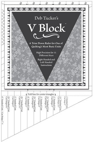 Ruler - V Block Trim Down Ruler by Deb Tucker for Studio 180 Designs