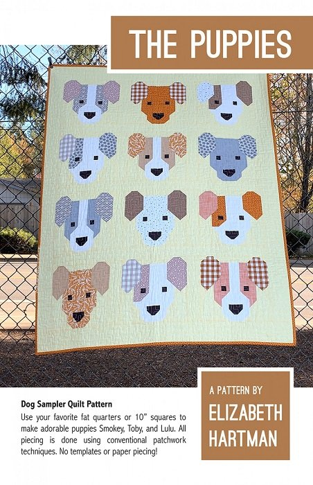 Pattern - The Puppies (40 x 52 and 66 x 66) by Elizabeth Hartman