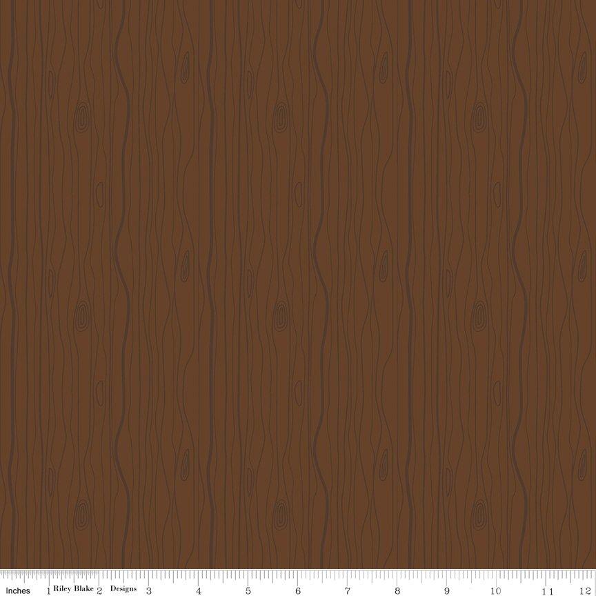 Woodland Flannel - Wood Grain in Brown by Ben Byrd for Riley Blake