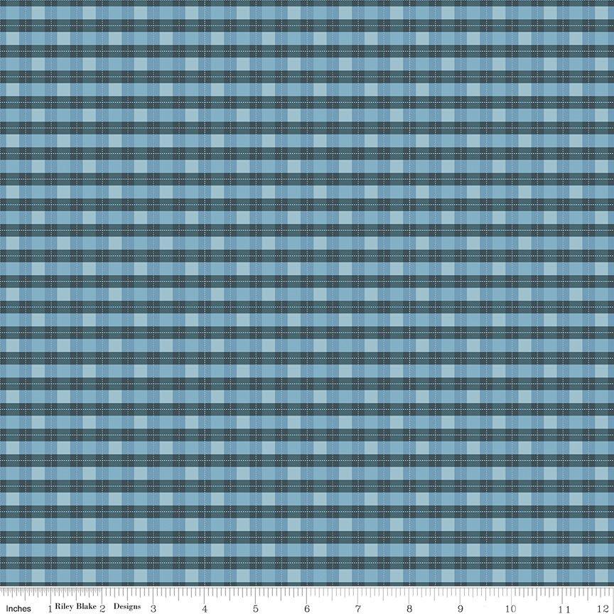 Woodland Flannel - Plaid in Blue by Ben Byrd for Riley Blake