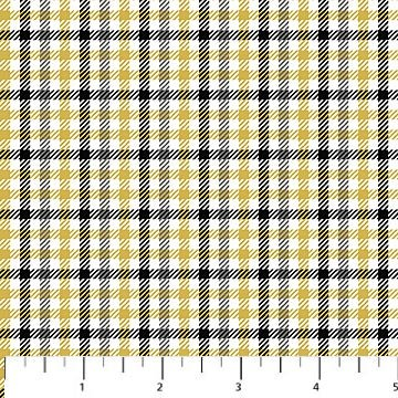 Northwood Flannel - Check in Gold and Grey by Deborah Edwards for Northcott
