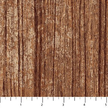 The Great Outdoors Flannel - Vertical Tree Bark in Brown by Northcott