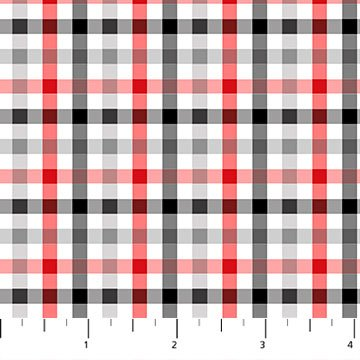 Mad for Plaid Flannel - Check in Red and Black by Deborah Edwards for Northcott