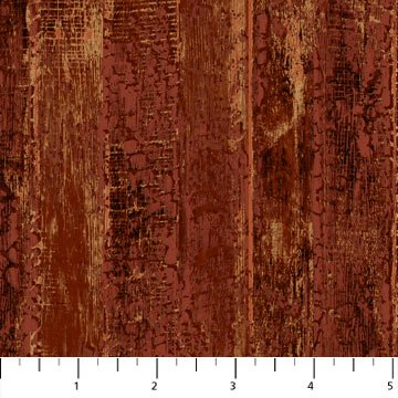 The Great Outdoors Flannel - Wood Planks in Rust by Northcott