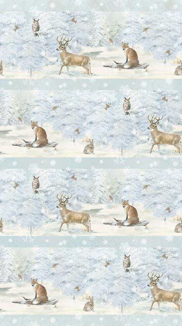 Enchanted Forest Flannel - Border Print by Hilltop Designs for Northcott