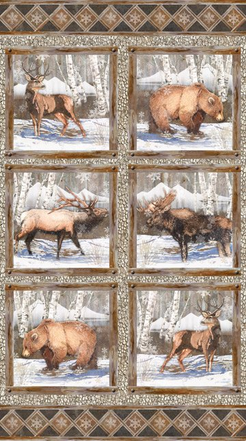 Panel - North Ridge Flannel (24.5 x 44) by Lynnea Washburn for Northcott