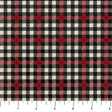 Oh Canada Flannel 2019 - Plaid in Red Multi by Deborah Edwards and Linda Ludovico for Northcott
