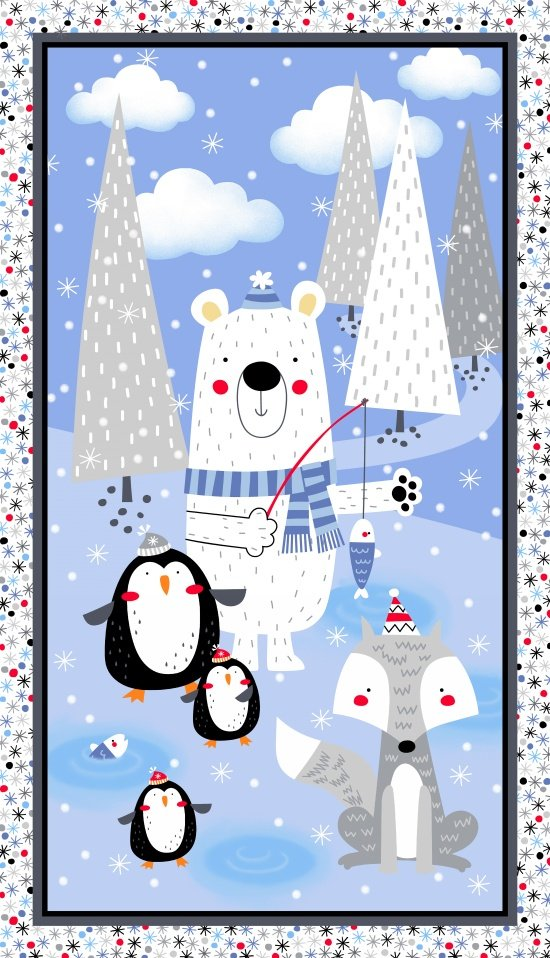 Panel - Polar Pals Flannel (26 x 42) by Swizzle Sticks Studio for Studio E