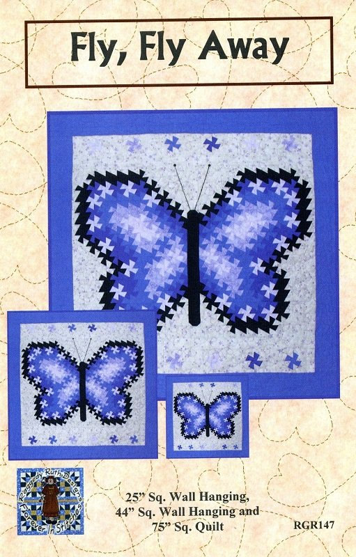 Pattern -  Fly, Fly Away Twister Wall Hanging (3 sizes) by Raggedy Ruth Designs