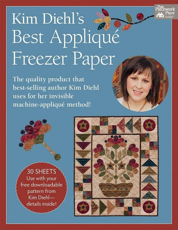 Kim Diehl's Best Applique Freezer Paper (8.5 x 11 - 30 sheets) by Martingale