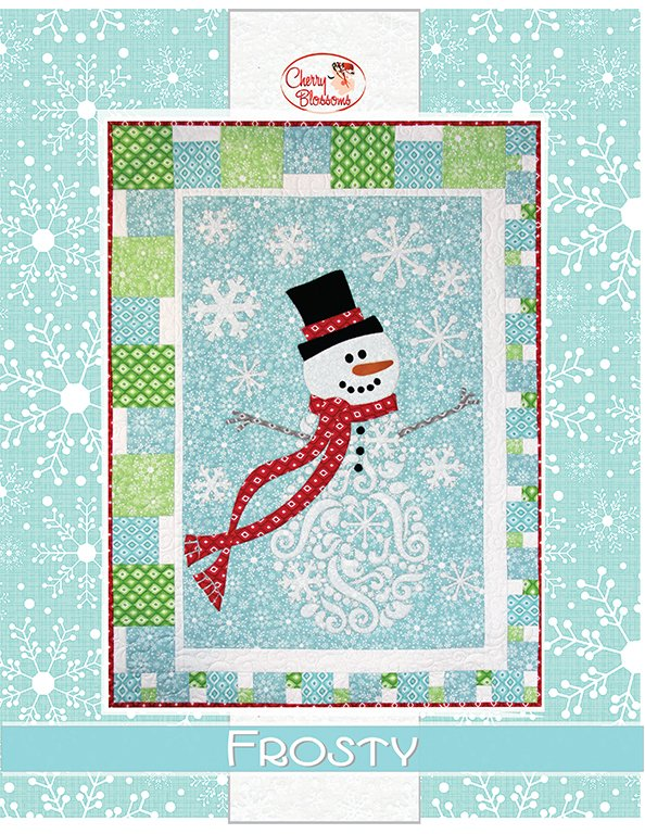 Kit - Frosty (27 x 37) pattern by Cherry Blossoms Quilting