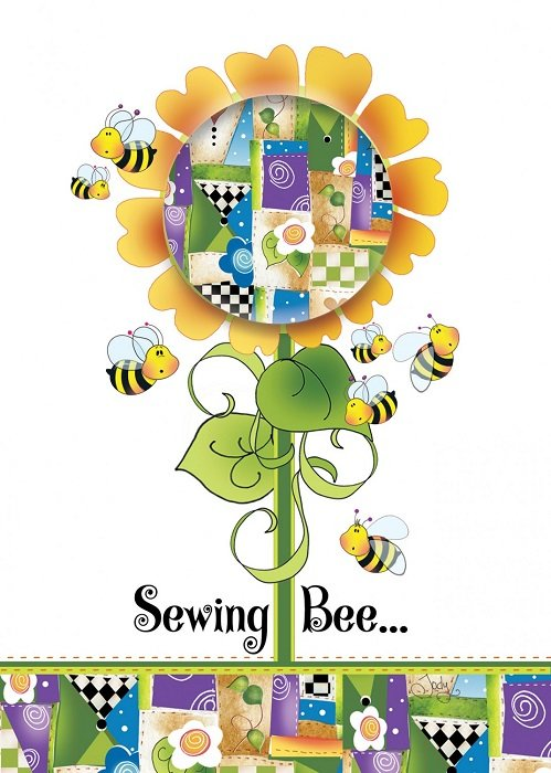 Greeting Card - Sewing Bee from Jody Houghton Designs