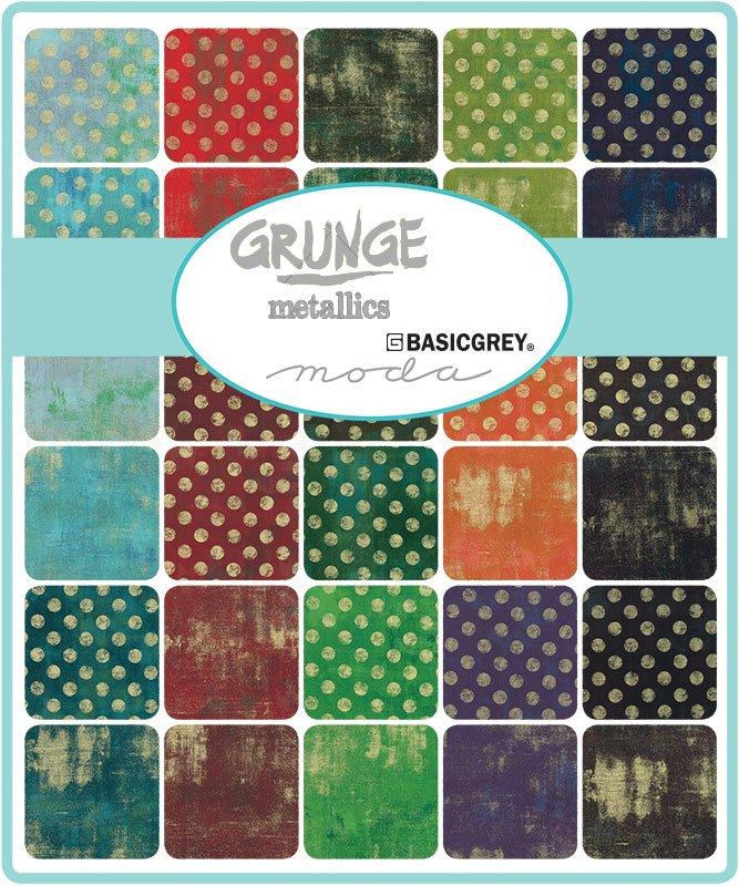 Layer Cake - Grunge Metallic (40 x 10 squares) by BasicGrey for Moda
