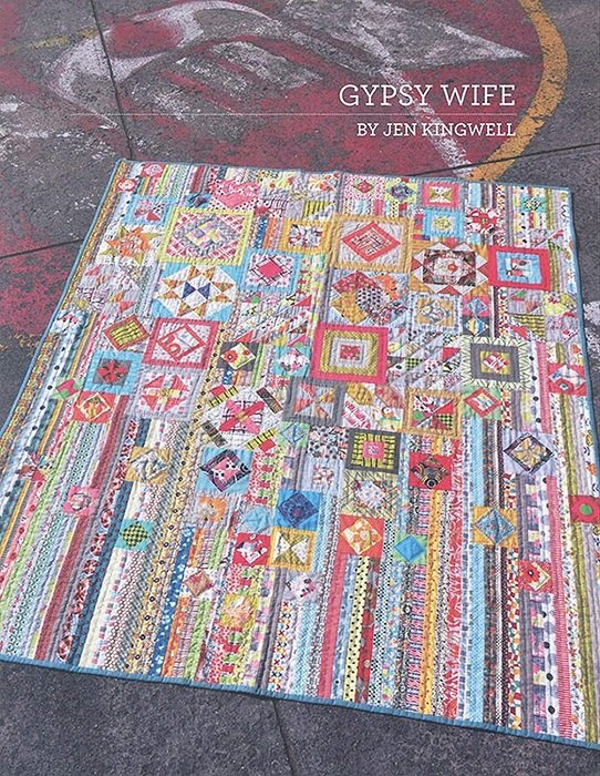 Pattern - Gypsy Wife (59 x 68) by Jen Kingwell