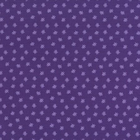 Welcome to My World - Hashtag in Purple by Sue Marsh for RJR Fabrics