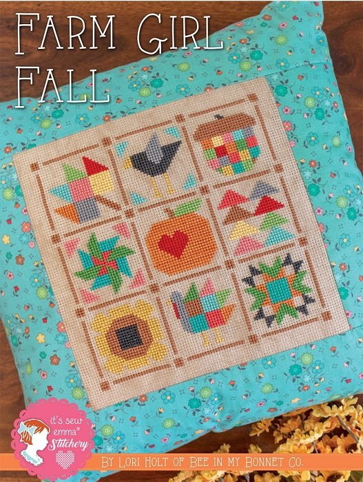 Pattern - Farm Girl Fall Cross Stitch by Lori Holt for It's Sew Emma