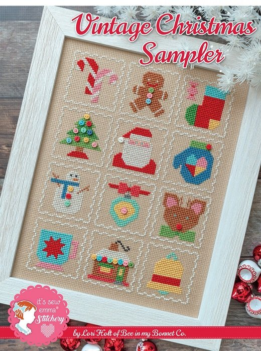 Pattern - Vintage Christmas Sampler Cross Stitch by Lori Holt of Bee in My Bonnet for It's Sew Emma