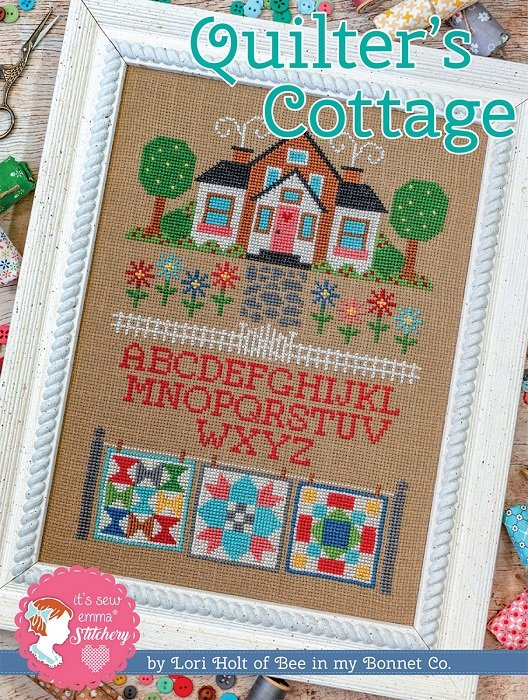 Pattern - Quilter's Cottage Cross Stitch by Lori Holt of Bee in My Bonnet for It's Sew Emma