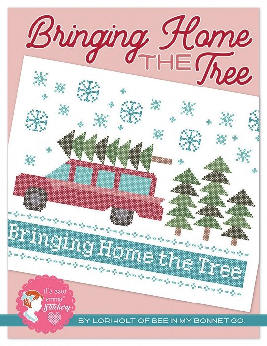 Pattern - Bringing Home the Tree Cross Stitch by Lori Holt of Bee in My Bonnet for It's Sew Emma