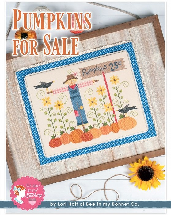 Pattern - Pumpkins for Sale Cross Stitch by Lori Holt for It's Sew Emma