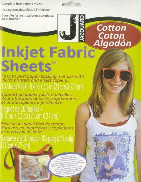 Inkjet Fabric Sheets - Cotton 10 Pack by Jacquard