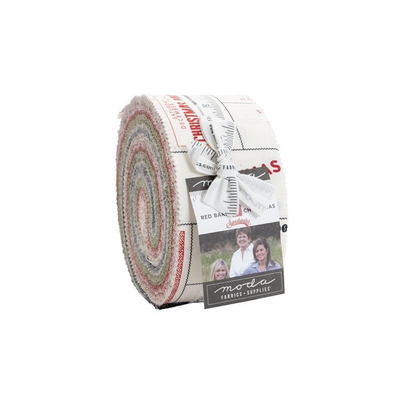 Jelly Roll - Red Barn Christmas (40 pieces x 2.5) by Sweetwater for Moda