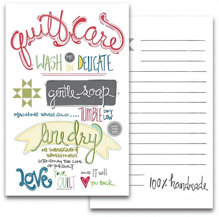 Note Card - Quilt Care 4.5 x 7 (pack of 2) by Amy Hamberlin from Kati Cupcake