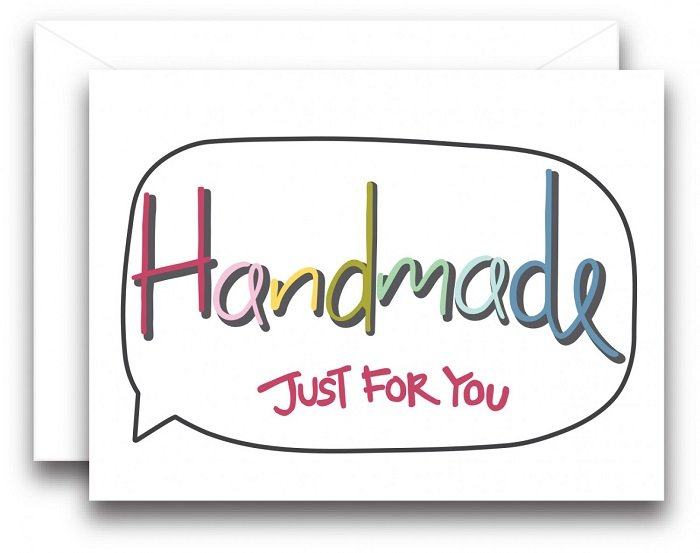 Note Card - Handmade Just for You (pack of 3) by Amy Hamberlin from Kati Cupcake