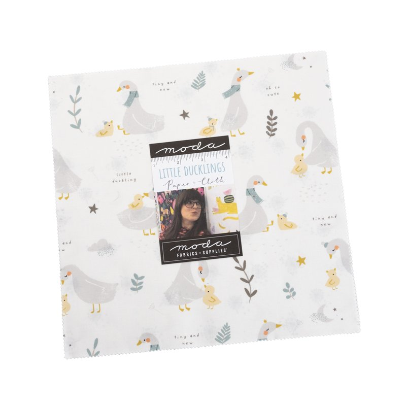 Layer Cake - Little Ducklings (42 x 10 squares) by Paper and Cloth for Moda