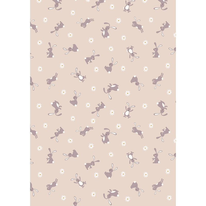 Bunny Hop - Bunny on Dark Cream a Lewis & Irene Collection by Lewis & Irene