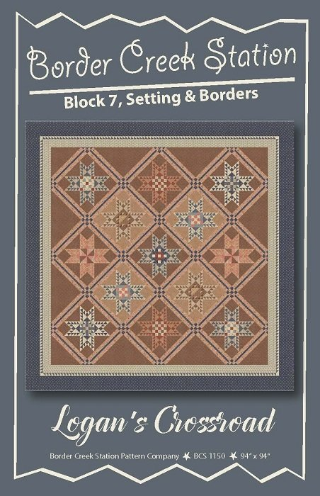 Pattern and Pre-Printed Foundation Paper - Logan's Crossroad (94 x 94) by Sherri Hisey for Border Creek Station