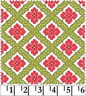 Catalina - Geometric Flower in Pink by Marti Michell for Maywood Studio