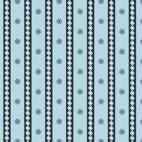 Frolic in the Snow Flannel - Little Stripe in Blue by Kris Lammers for Maywood Studio