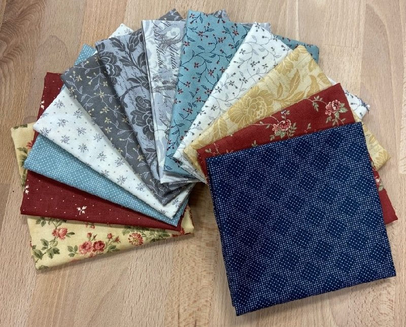 Fat Quarter Bundle - Memoirs (12 pieces) by 3 Sisters for Moda