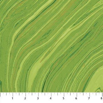 Artisan Spirit - Sandscapes in Green Apple by Deborah Edwards for Northcott