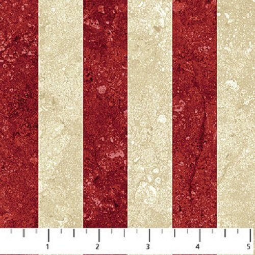 Oh Canada - Stripe in Red and Beige by Northcott