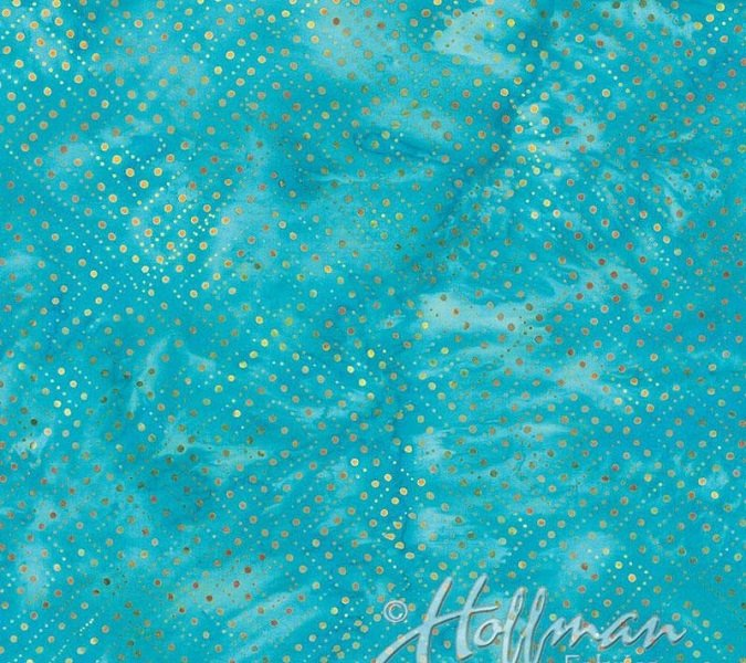 Bali Handpaints - Diamond Dots in Waterfall by Hoffman