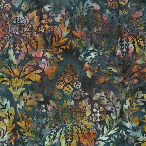 Bali Handpaints - Floral Damask in Squid by Hoffman