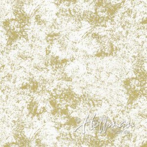 Sparkle and Fade - Splotches in Gold on Zinc by Hoffman