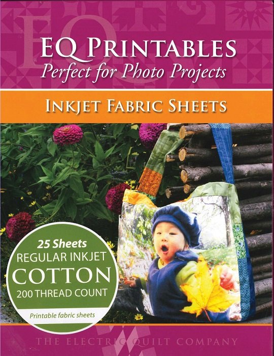 Inkjet Fabric Sheets - EQ Printables 8.5 x 11 Sheets (25 count) by Electric Quilt Company