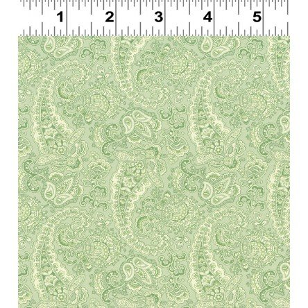 Paisley in Green by Stepping Stones for Clothworks