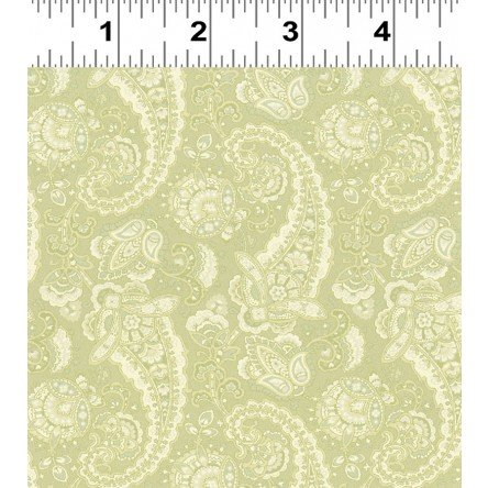 Paisley in Light Olive Green by Stepping Stones for Clothworks